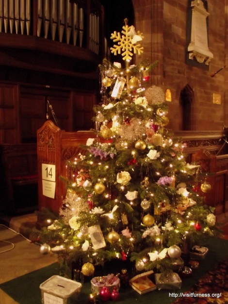 The Christmas Tree Festival is one of the most popular events held in  Furness, staged at the impressive red sandstone St Mary's Parish Church, Dalton-in-Furness, the festivities run until the end of December.