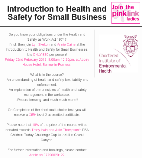 Come and Join us for an Introduction to Health and Safety