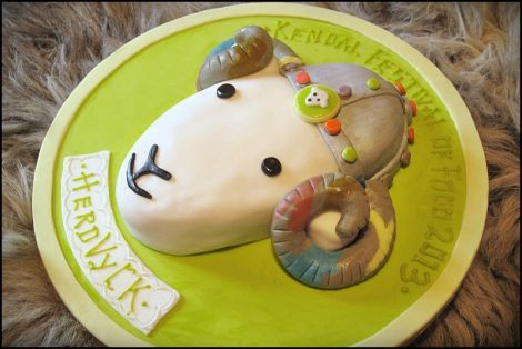 Tythebarn House B&B Making this cake has kept me quiet for a few days! He did me proud and won the Herdy UK novelty cakes section at Kendal Festival of Food. Thanks to four generations of baker's genes Devonshire Bakery - Quality since 1900 - Frodsham, Runcorn and Weaverham and Vic who came up with the Viking theme idea.  P.S. Herdwick sheep were said to have come over this way with the Vikings. Herdvyck is viking for Herdwick!