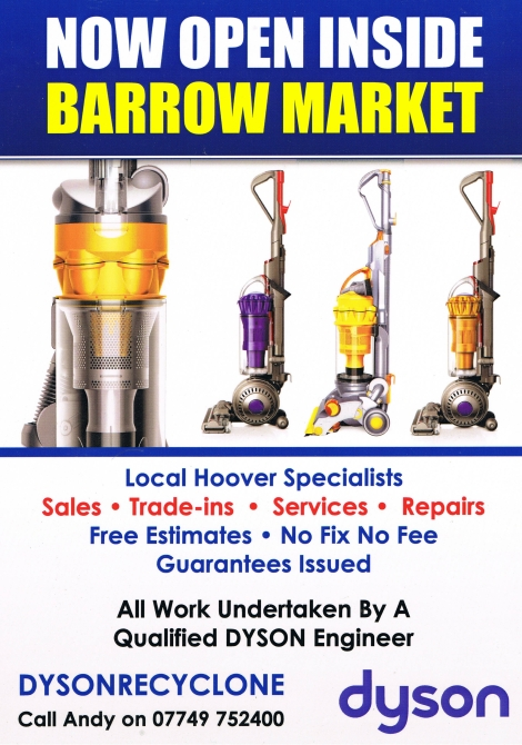 Barrow Indoor & Outdoor Market   Barrow Market Hall 28 Duke Street Barrow In Furness Cumbria LA14 1HU  Open on Mondays, Wednesdays, Fridays and Saturdays,  9 am – 5 pm