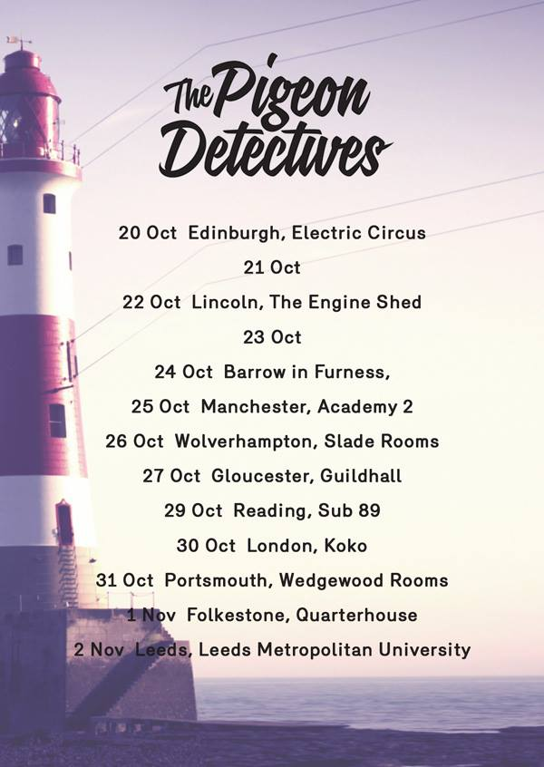Tickets for the Pigeon Detectives are now ON SALE from http://www.thenines.co.uk/whats-on/pigeondetectives